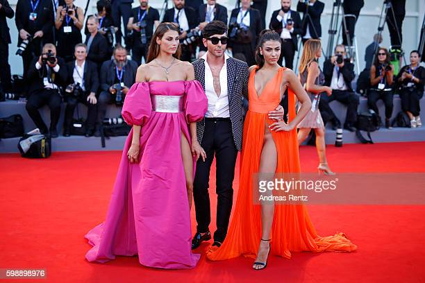 Dayane Mello Matteo Manzini and Giulia Salemi attend the premiere of 'The Young Pope' during the 73rd Venice Film Festival at Palazzo del Casino on...