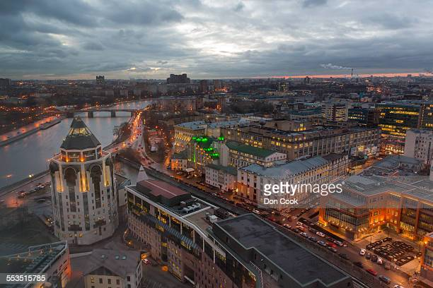 Daybreak In Moscow, Russia