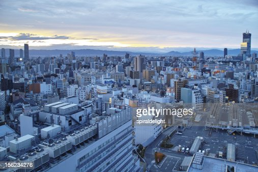 Daybreak Osaka : Stock Photo