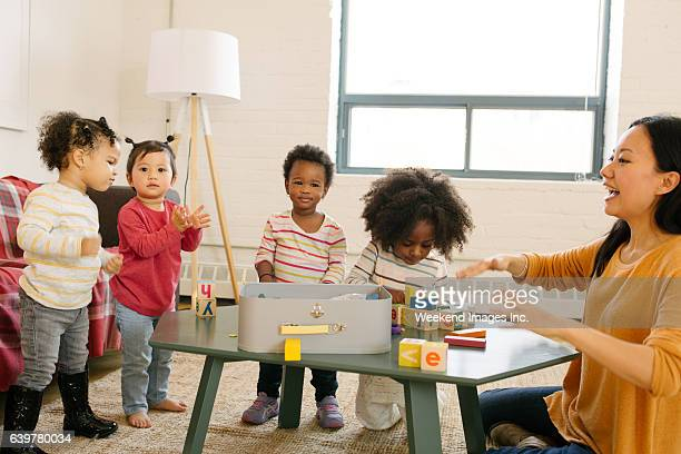 Daycare and dancing time for toddlers