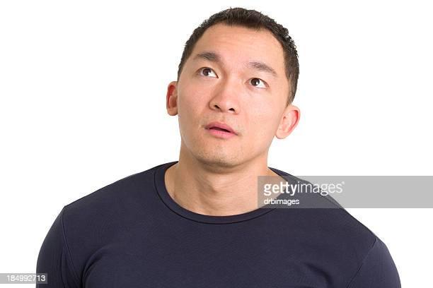 Daydreaming Asian Man
