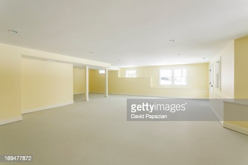 Daylight basement of large custom home stock photo getty for Daylight basement pictures
