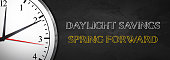 Daylight Savings concept with Clock