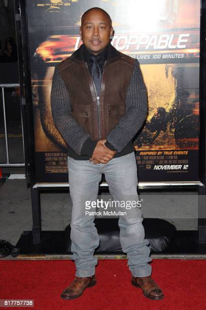 Daymond John attends UNSTOPPABLE World Premiere at Regency Village Theatre on October 26 2010 in Westwood California