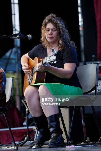Dayna Kurtz performs on stage at Noches del Botanico on July 19 2017 in Madrid Spain