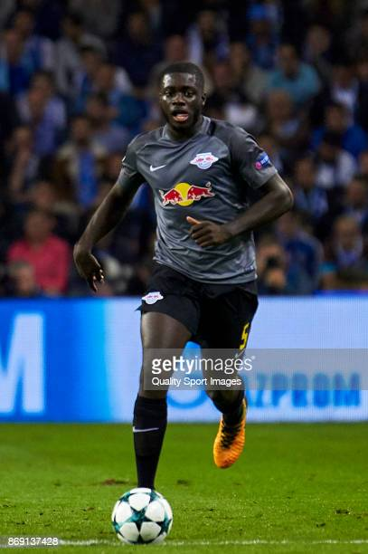 Dayot Upamecano of RB Leipzig in action during the UEFA Champions League group G match between FC Porto and RB Leipzig at Estadio do Dragao on...