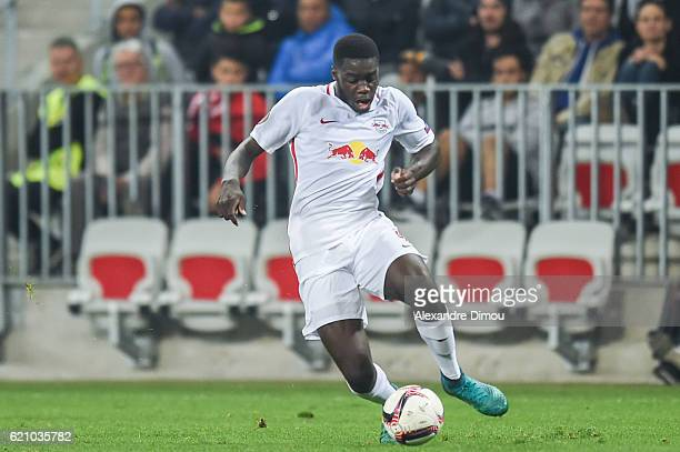 Dayot Upamecano of Salzbourg during the Uefa Europa League match between OGC Nice and Red Bull Salzburg at Allianz Riviera Stadium on November 3 2016...