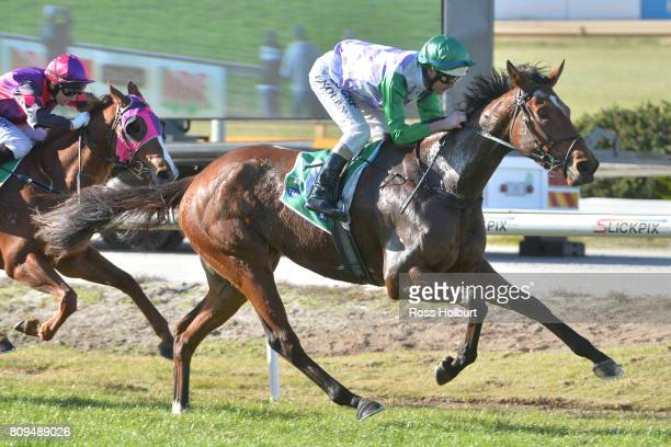 Days Go By ridden by Luke Nolen wins the Highview Accounting Financial Services Maiden Plate at Cranbourne Racecourse on July 06 2017 in Cranbourne...