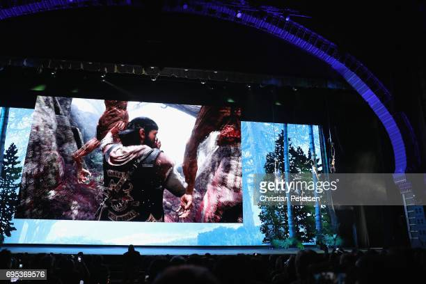 'Days Gone' footage is revealed during the Sony Playstation E3 conference at the Shrine Auditorium on June 12 2017 in Los Angeles California The E3...