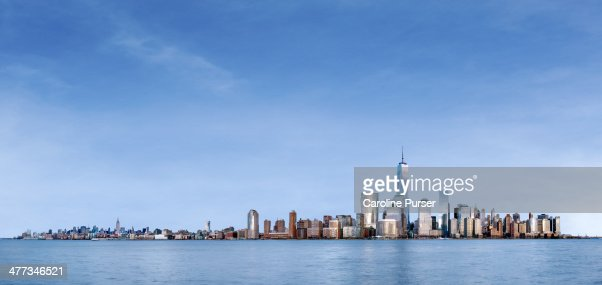 Daytime skyline view of New York City