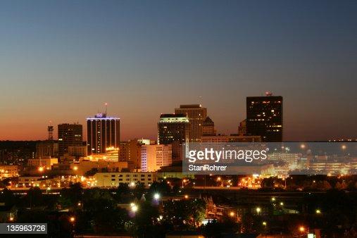 Dayton Dusk Cityscape Skyline Horizontal
