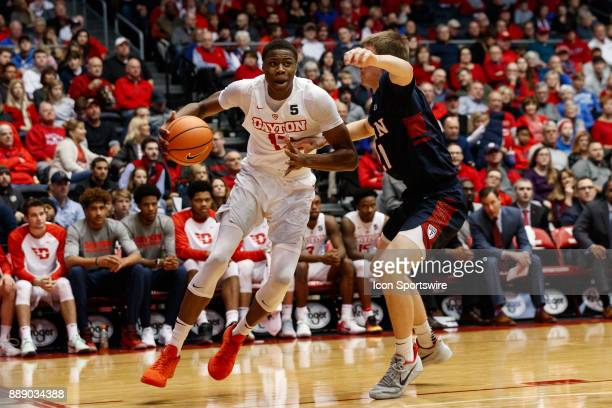 Dayton Flyers forward Kostas Antetokounmpo dribbles along the baseline during the second half of a game between the Dayton Flyers and the...