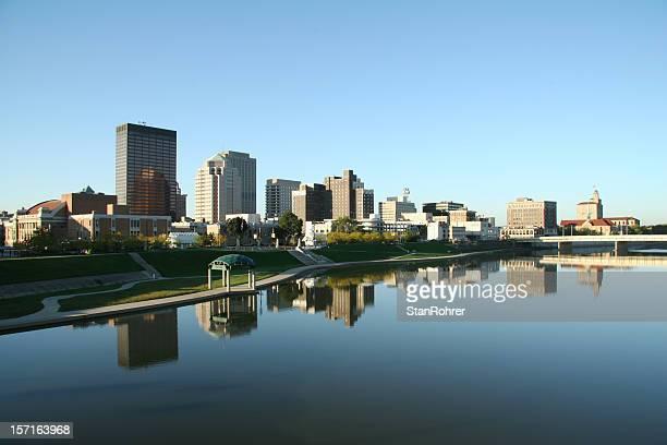 Dayton Morning Cityscape Skyline
