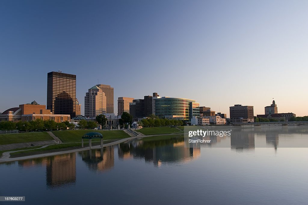 Dayton Ohio Cityscape at Dusk