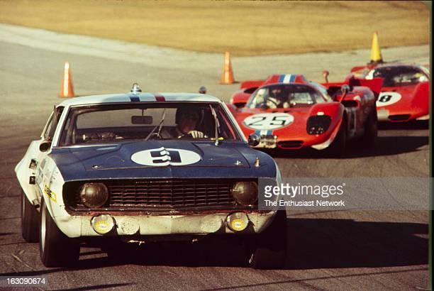 Daytona 24 Hour Race American drivers Don Yenko and Bob Grossman take turns driving stints in a Chevrolet Camaro