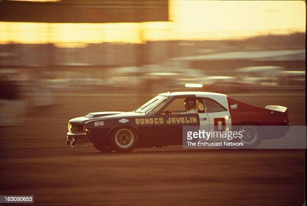 Daytona 24 Hour Race American teammates Mark Donohue and Peter Revson drive the Sunoco AMC Javelin