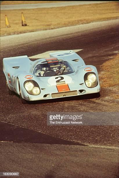 Daytona 24 Hour Race Teammates Pedro Rodriguez Leo Kinnunen and Brian Redman take shifts driving stints in the Gulf Porsche 917K The trio will go on...