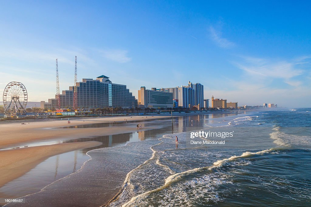 Daytona Beach, Florida from the pier : Stock Photo