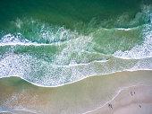 Aerial view of the beach of Daytona Beach Florida.