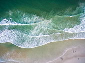 Aerial view of the beach of Daytona Beach Florida.