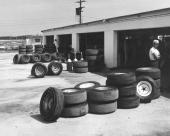 Daytona International Speedway garages kept their same original look from the speedway's inception through the complete infield remodeling in the...