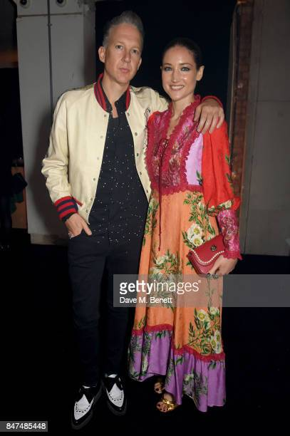Dazed media CEO and cofounder Jefferson Hack and Andrea Mary Marshall attend The Gate an Andrew Thomas Huang Bjork Alessandro Michele and James Merry...