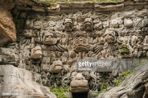 Dazu rock carvings stock photos and pictures getty images