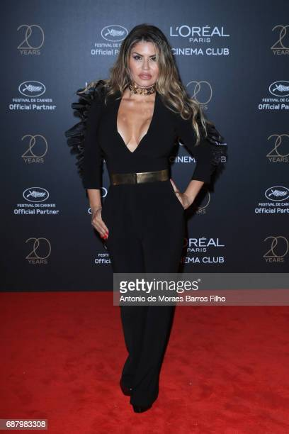 Dazza Brigitte attends the Gala 20th Birthday Of L'Oreal In Cannes during the 70th annual Cannes Film Festival at Hotel Martinez on May 24 2017 in...