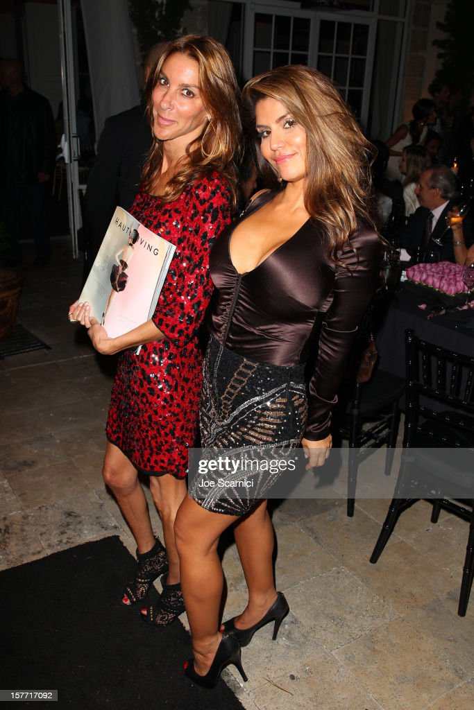 Dazza Brigitte (R) attends the Haute Living and Roger Dubuis dinner hosted By Daphne Guinness at Azur on December 5, 2012 in Miami Beach, Florida.