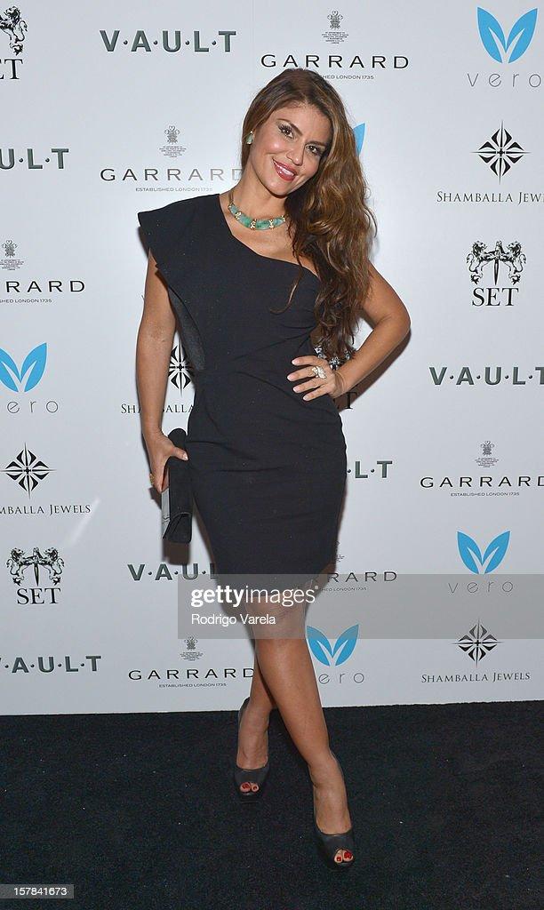 Dazza Brigitte attends the V.A.U.L.T. Art Basel Party on December 6, 2012 in Miami, Florida.