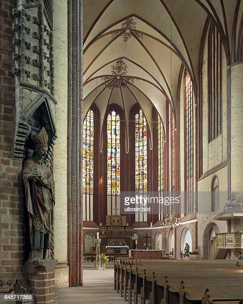 DBad Wilsnack Prignitz Flusslandschaft ElbeBrandenburg Biosphere Reserve Brandenburg St Nicholas pilgrimage church evangelic church Brick Gothic...