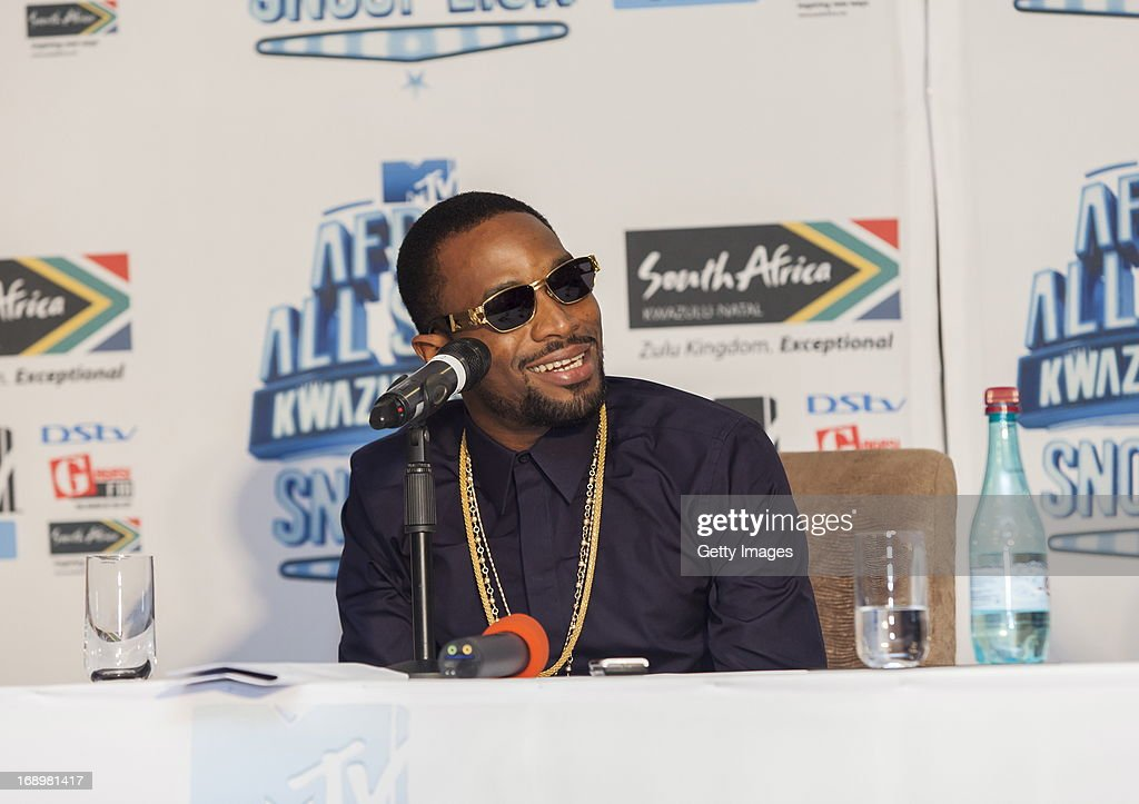 Dbanj at the press conference for the MTV Africa All Stars Concert on May17, 2013 in Durban, South Africa. Snoop Dog or Snoop Lion as he is now also known will be the headline act for the Concert.