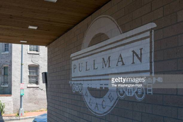 Logo on front of the Pullman Place Condominium on June 9 2017 in Washington DC
