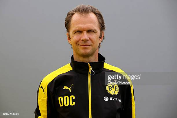 Dcotor Markus Braun during the team presentation of Borussia Dortmund at Brackel training ground on July 15 2015 in Dortmund Germany