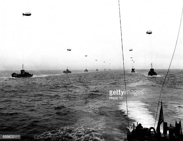 Landing of the allied troops on the beaches of Normandy France June 6 Second World War war National archives Washington