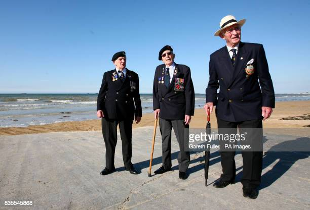 DDay veteran George Taylor a Sapper in the Royal Engineers during World War Two Percy Lewis of the 1st Buckinghamshire Battalion and Tony Richardson...