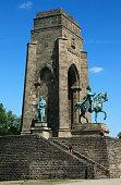 DDortmund Ruhr area Westphalia North RhineWestphalia NRW DDortmundSyburg Ardey Hills Hohensyburg Kaiser Wilhelm memorial by Adolf von Dondorf and...