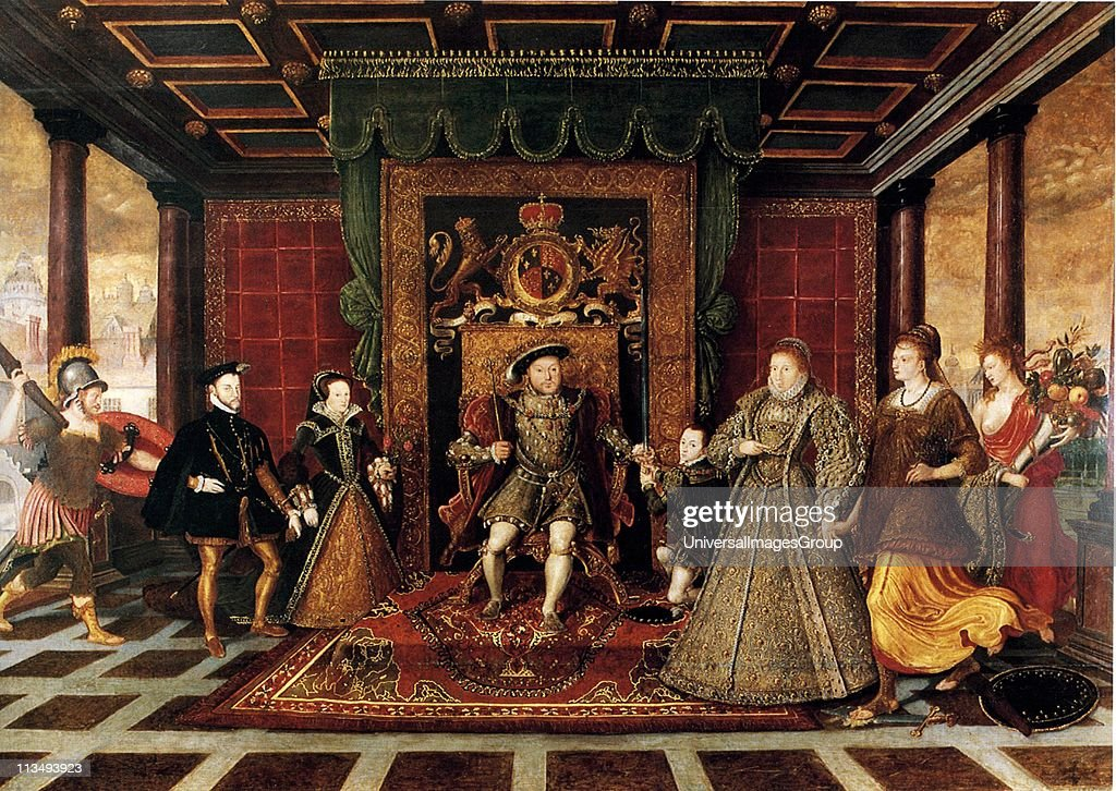 De Here The Family of Henry VIII An Allegory of Tudor Succession c1572