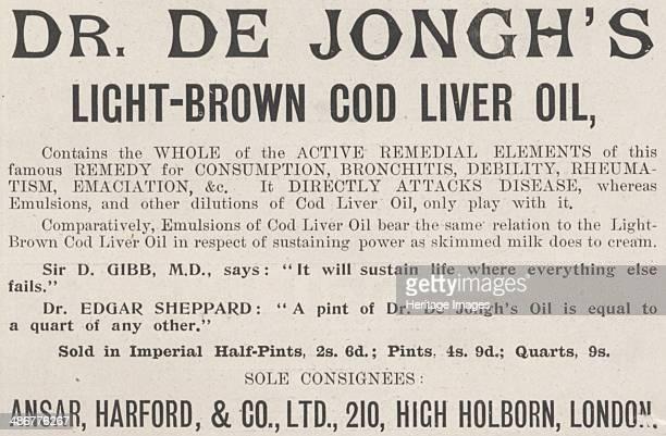 De Jongh's Lightbrown cod liver oil 1898