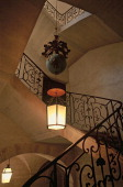 De la Rochette mansion in Uzes France Gard Wrought iron staircase and banister