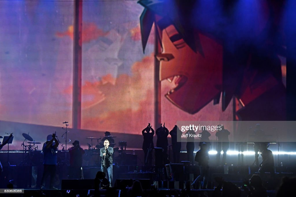 De La Soul performs with Gorillaz on the Lands End stage during the 2017 Outside Lands Music And Arts Festival at Golden Gate Park on August 11, 2017 in San Francisco, California.