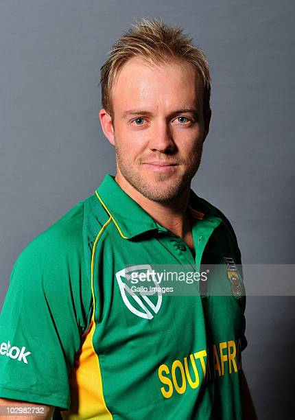 AB de Villiers during the South Africa cricket team portrait session at Sandton Sun Hotel on July 19 2010 in Johannesburg South Africa