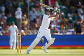 AB de Villiers of South Africa bats during day two of the 1st Test between South Africa and England at Sahara Stadium Kingsmead on December 27 2015...