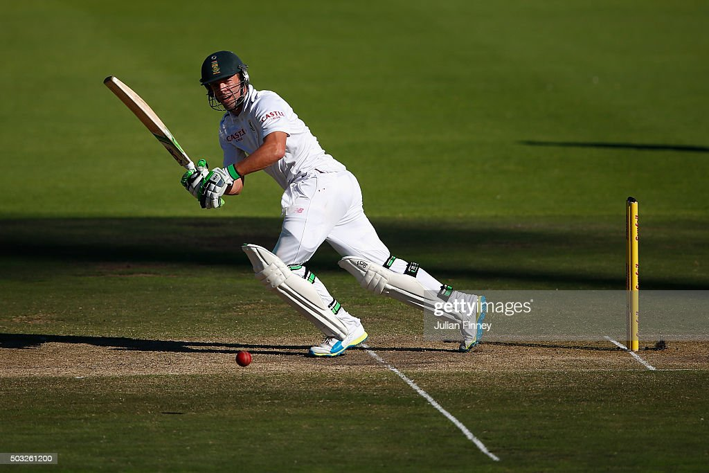 AB de Villiers of South Africa bats during day two of the 2nd Test at Newlands Stadium on January 3, 2016 in Cape Town, South Africa.