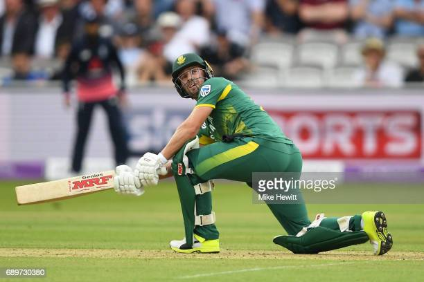 AB de Villiers of South Africa in action during the 3rd Royal London ODI between England and South Africa at Lord's Cricket Ground on May 29 2017 in...
