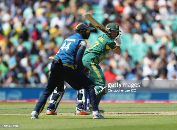 De Villiers of South Africa in action during the ICC Champions Trophy Group B match between Sri Lanka and South Africa at The Kia Oval on June 3 2017...