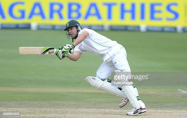 AB de Villiers of South Africa plays through midwicket during day 5 of the 1st Test match between South Africa and India at Bidvest Wanderers Stadium...