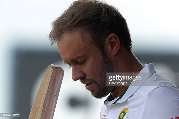 AB de Villiers of South Africa scored 152 runs during day 2 of the 1st Test match between South Africa and West Indies at SuperSport Park on December...