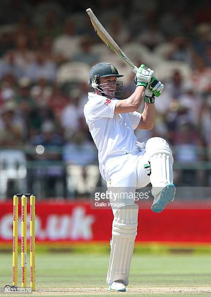 AB de Villiers of the Proteas bats during day 3 of the 2nd Test match between South Africa and England at PPC Newlands on January 04 2016 in Cape...