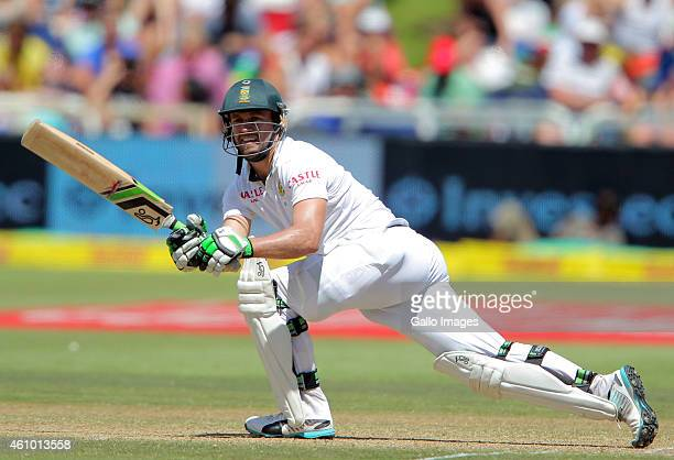 AB de Villiers of the Proteas during day 3 of the 3rd Test between South Africa and West Indies at Sahara Park Newlands on January 04 2015 in Cape...